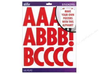 Alphabet Stickers / Number Stickers: EK Sticko Alphabet Stickers Futura Extra Large Red