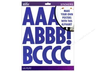Alphabet Stickers / Number Stickers: EK Sticko Alphabet Stickers Futura Extra Large Blue