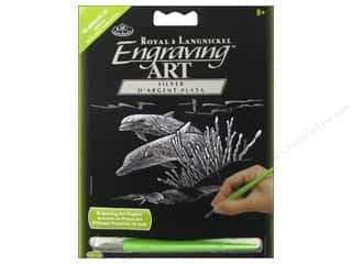 Royal Silver Mini Engraving Art Dolphin Reef
