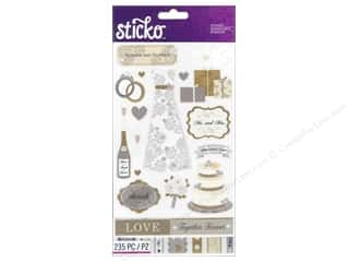 bird sticker: EK Sticko Stickers Flip Pack Wedding