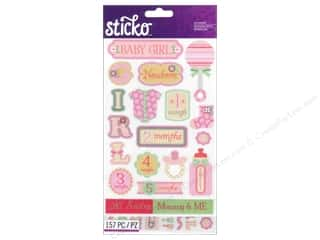 stickers: EK Sticko Stickers Flip Pack Baby Girl