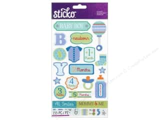 stickers: EK Sticko Stickers Flip Pack Baby Boy