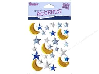 Darice Self-Stick Gems 15 mm Moon and Stars 28 pc. Amber/Blue/Clear