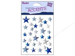 Darice Self-Stick Gems 12 mm Stars 31 pc. Clear/Blue/Navy