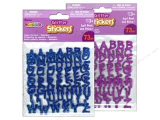 Darice Foamies Alphabet Stickers 73 pc. Glitter Blue/Purple Assorted