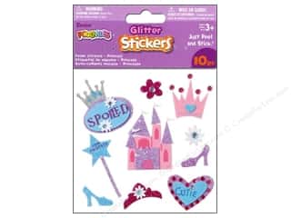 Darice Foamies Stickers 3D Glitter Princess 10 pc.