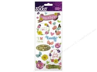 stickers: EK Sticko Stickers Icons & Words Large Mom