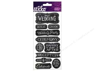 EK Sticko Stickers Chalk Words Wedding