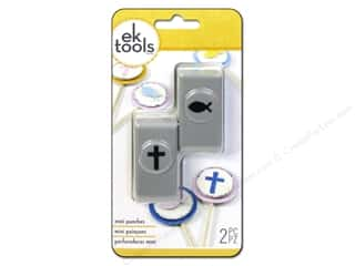 scrapbooking & paper crafts: EK Success Mini Punch Set 2 pc. Cross & Fish