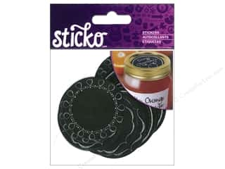 EK Sticko Stickers Labels Chalk Mason Jar