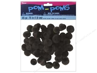 "3/4"" pom poms: Darice Pom Poms 3/4 in. (19 mm) Light Brown 45 pc."