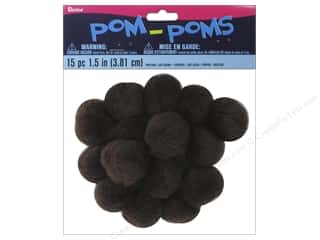 Darice Pom Poms 1 1/2 in. (38 mm) Light Brown 15 pc.