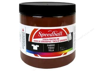 Speedball Fabric Screen Printing Ink 8 oz. Brown