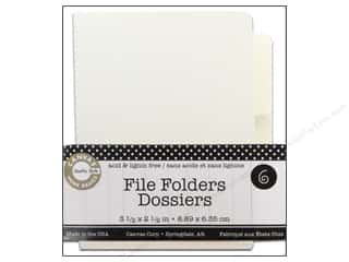 Canvas Corp File Folders 3 1/2 x 2 1/2 in. Naked Ivory 6 pc.