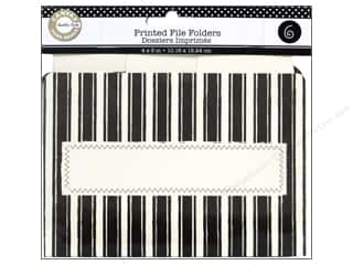 Canvas Corp Printed File Folders 4 x 6 in. Farmhouse Kitchen Black and Ivory
