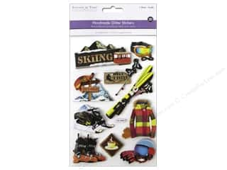 sport yarn: Multicraft Sticker 3D Chipboard Ski Trip