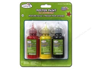 Multicraft Krafty Kids Poster Paint 60ml Red/Yellow/Black 3pc