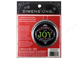 Dimensions Embroidery Kit Ornament Chalkboard Share Joy