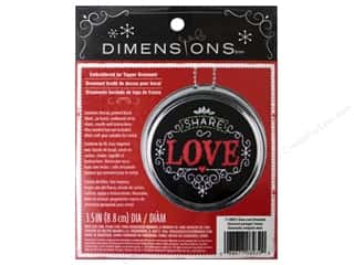 Dimensions Embroidery Kit Ornament Chalkboard Share Love