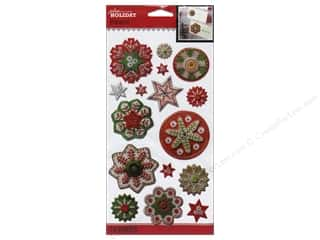 theme stickers  holidays: Jolee's Boutique Stickers Holiday Snowflakes