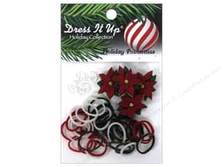 Weekly Specials Pins : Jesse James Kit Rubber Bands Holiday Poinsettias