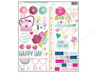 phrase stickers: American Crafts Stickers Dear Lizzy Serendipity Accents & Phrases