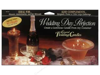 craft & hobbies: Pepperell Candle Wick Floating Wedding Day Perfection