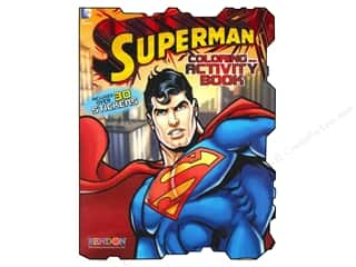 Bendon Shaped Coloring & Activity Book Superman