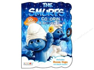 Bendon Shaped Coloring & Activity Book Smurfs