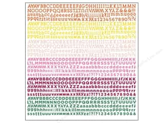 alphabet stickers: BasicGrey Alphabet Stickers Vivienne (12 sets)