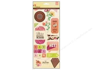 Chipboard Shapes  Flowers: BasicGrey Chipboard Shapes Stickers Vivienne