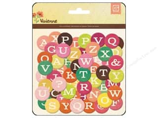 chipboard letters: BasicGrey Chipboard Alphabet Stickers Vivienne