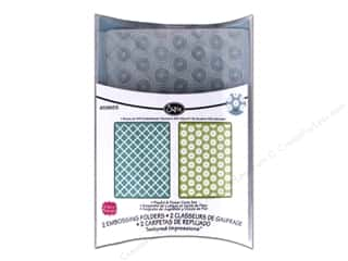 Sizzix Textured Impressions Embossing Folders 2 pc. Playful & Flower Circle Set