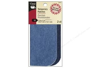 Dritz Temporary Patch - 5 x 5 in. Denim Assorted Blue 2 pc.