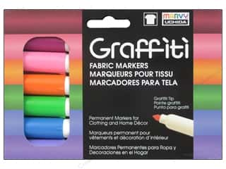 scrapbooking & paper crafts: Marvy Uchida Graffiti Fabric Markers Set 6 pc. Floral