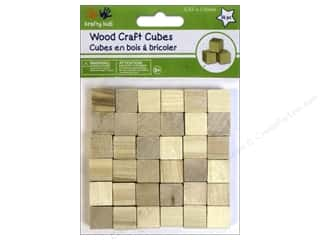 Kids Crafts: Craft Medley Wood Craft Cubes 5/8 in. Natural 36 pc.