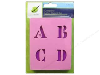 scrapbooking & paper crafts: Craft Decor Stencil Set 1 in. Letters