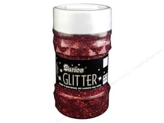 Darice Glitter Jar 4 oz. Red