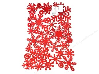 Sierra Pacific Crafts Decor Placemat Felt Snowflake Red