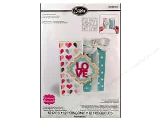 Valentine's Day Gifts: Sizzix Framelits Die Set 12PK Card Charming Frame Flip-its by Stephanie Barnard