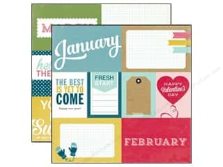 scrapbooking & paper crafts: Echo Park 12 x 12 in. Paper Through The Year Collection January To April (25 sheets)
