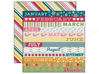 Echo Park 12 x 12 in. Paper Through The Year Collection Month Border Strips (25 sheets)