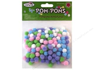 Multicraft Krafty Kids Pom Poms 10mm Pastel 200pc