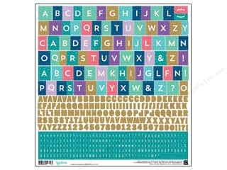 alphabet stickers: BasicGrey Alphabet Stickers Aurora (12 sets)