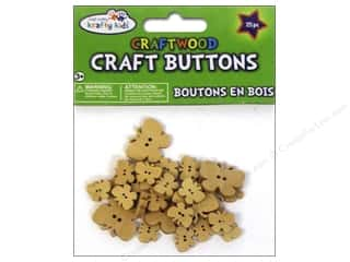 Weekly Specials Kids Crafts: Multicraft Krafty Kids Wood Craft Button Natural Butterflies 25pc