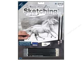 colored pencils: Royal Sketching Made Easy Kit Running Free