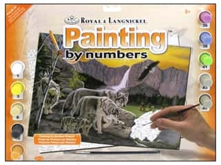 Clearance Royal Paint Artist Acrylic: Royal Paint By Number Kit Large Path of the Wolf Spirit