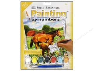 Clearance Royal Paint Artist Acrylic: Royal Paint By Number Kit Horse In Field
