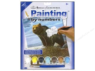 Royal Paint By Number Kit Grizzly Bear