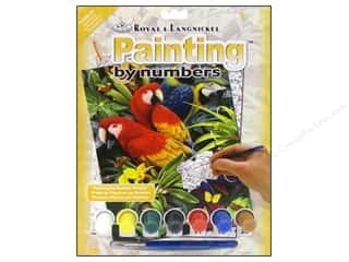 Royal Paint By Number Kit Majestic Macaws